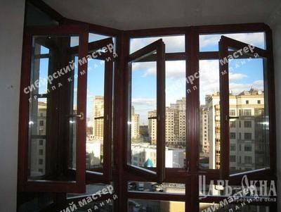 деревянные окна из сосны со стеклопакетом